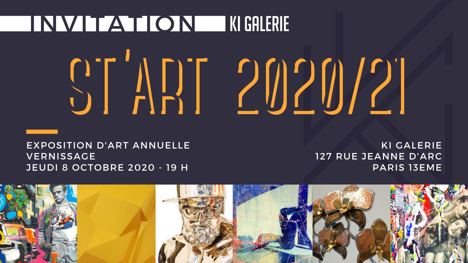 Exposition «St'Art 2020/2021» PARIS 13e. KI GALERIE