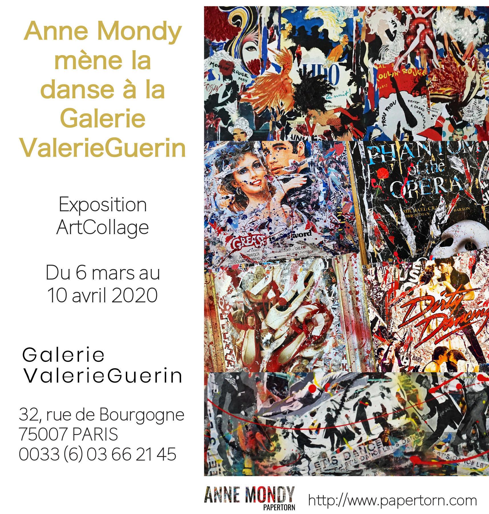 Vernissage «Anne mène Mondy mène la danse à la Galerie ValerieGuerin» Mars 2020