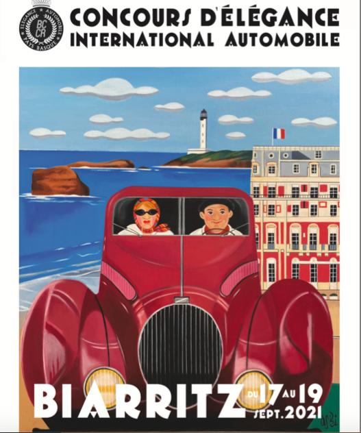 PAYS BASQUE ELEGANCE AUTOMOBILE . CELEBRATION DES 60 ANS DE LA JAGUAR TYPE E CUSTOM BY ANNE MONDY